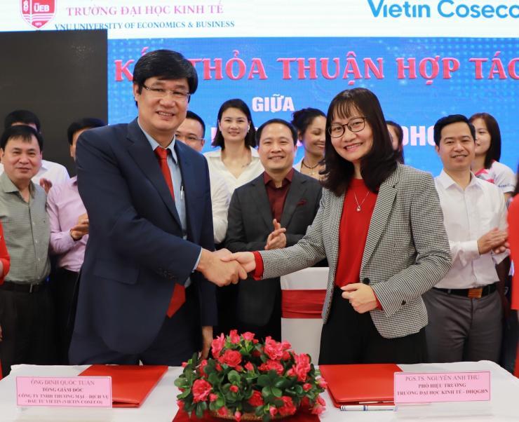 Vietin Coseco và trường Đại học Kinh tế - ĐHQGHN thỏa thuận hợp tác