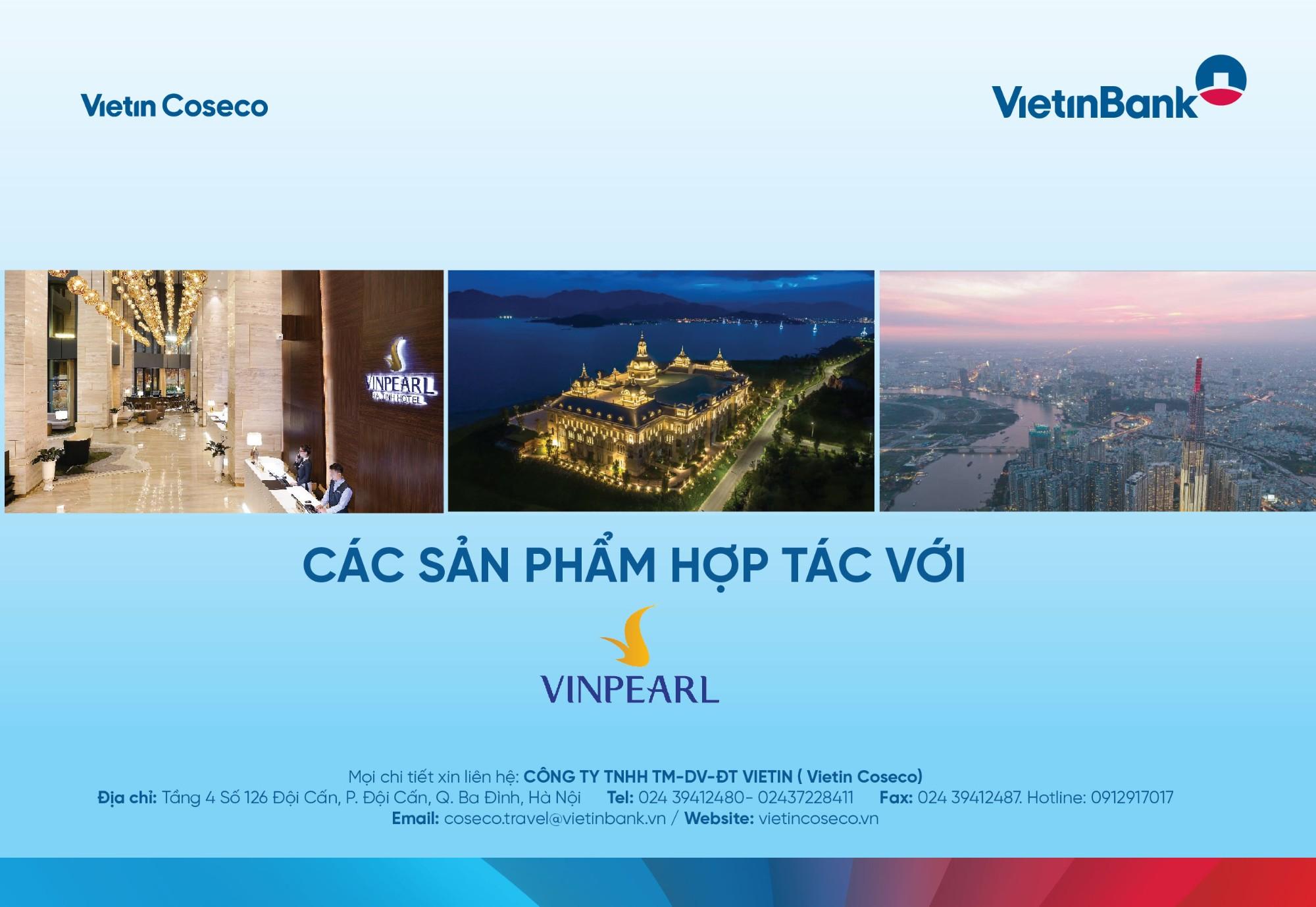 Vietin Coseco cho ra mắt các sản phẩm hợp tác với Vinpearl