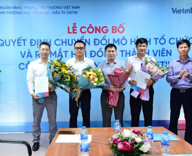 Quyết định thay đổi mô hình tổ chức Công ty TNHH Thương mại - Dịch vụ - Đầu tư Vietin